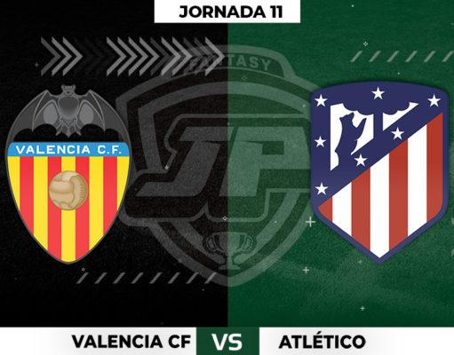 Alineaciones Valencia - Atlético Jornada 11