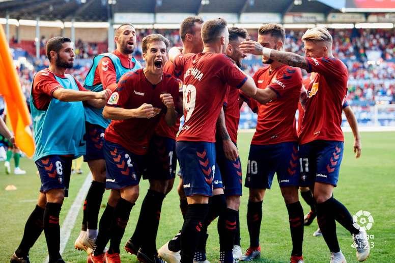 Íñigo Pérez celebra con rabia un gol