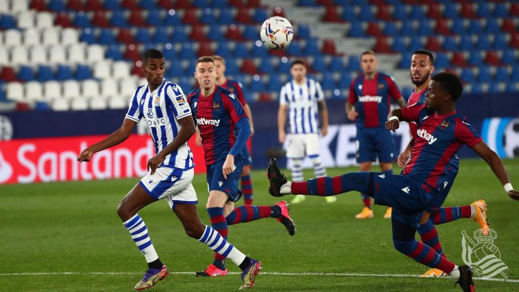 Malsa durante el partido contra la Real Sociedad