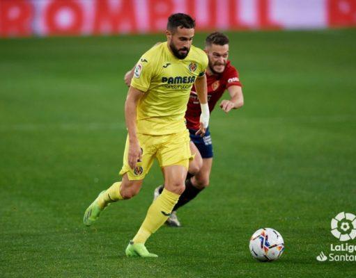 Mario Gaspar durante el partido contra Osasuna