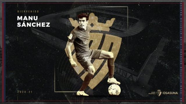 Manu Sánchez, flamante fichaje del Osasuna