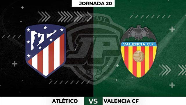 Alineaciones Atlético - Valencia Jornada 20