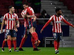 Correa celebra el gol ante el Valencia