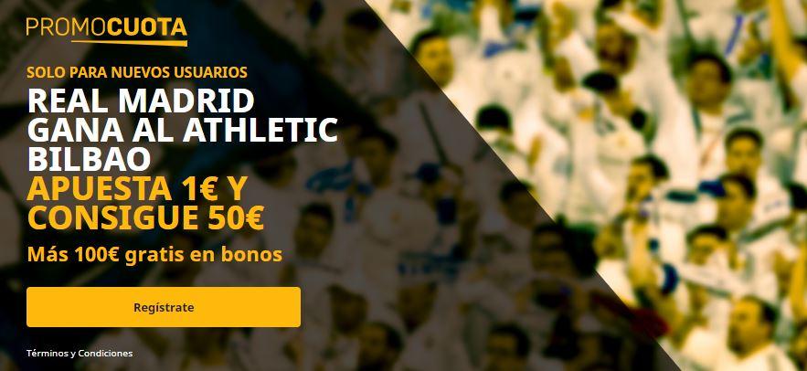 promocuota betfair del real madrid - athletic
