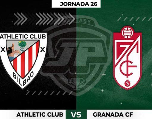 Alineaciones Athletic - Granada Jornada 26