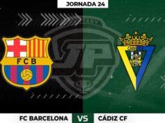 Alineaciones Barcelona - Cádiz Jornada 24