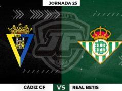 Alineaciones Cádiz - Betis Jornada 25