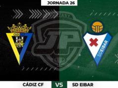 Alineaciones Cádiz - Eibar Jornada 26