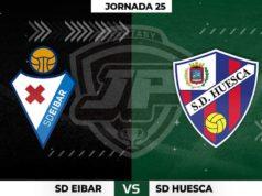 Alineaciones Eibar - Huesca Jornada 25
