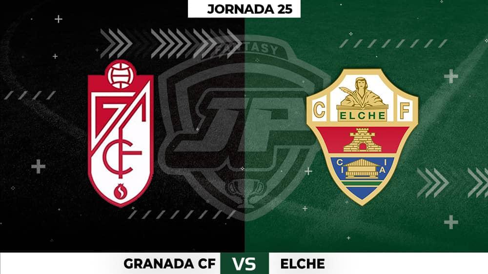 Alineaciones Granada - Elche Jornada 25