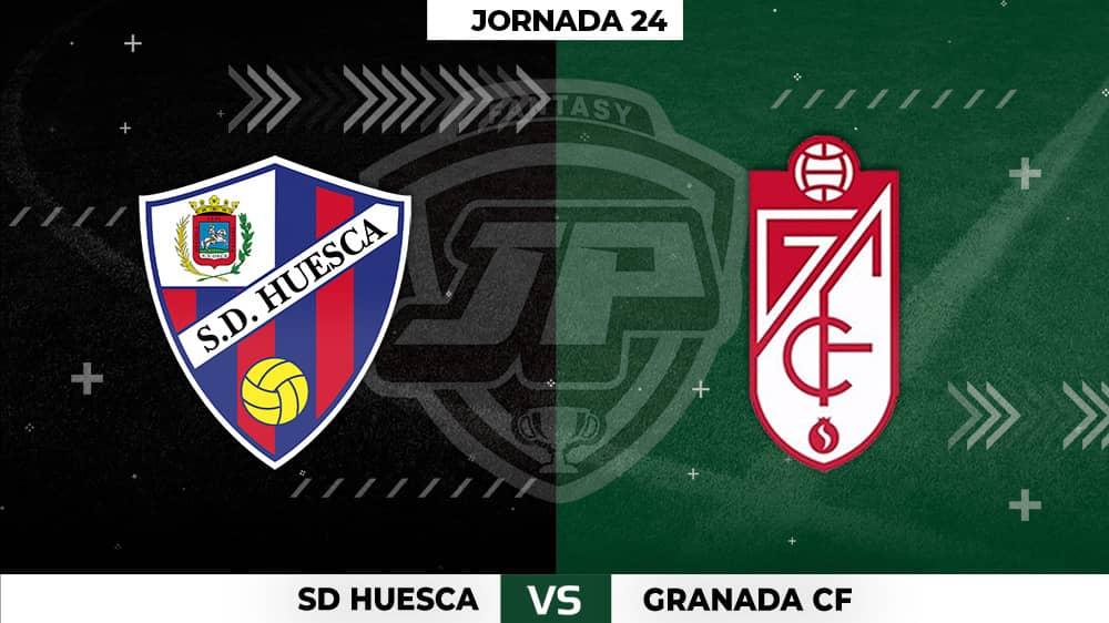 Alineaciones Huesca - Granada Jornada 24