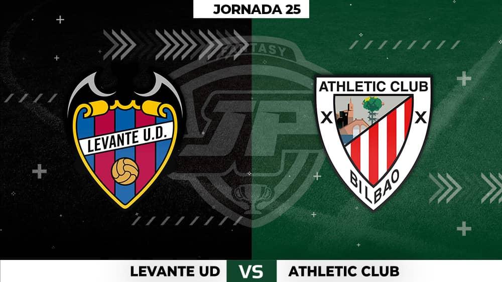 Alineaciones Levante - Athletic Jornada 25