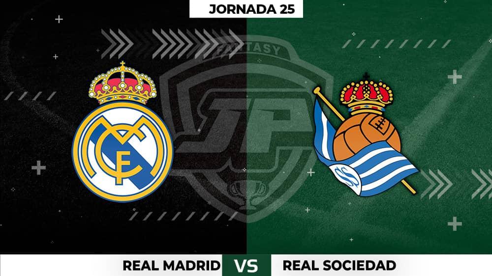 Alineaciones Real Madrid - Real Sociedad Jornada 25