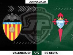 Alineaciones Valencia - Celta Jornada 24