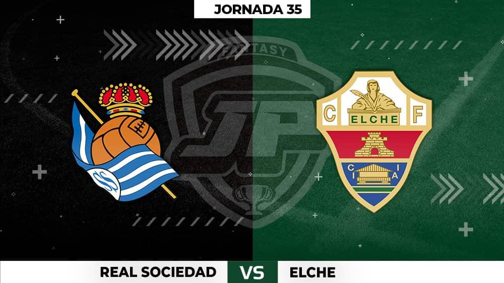 Alineaciones Posibles: Real Sociedad - Elche Jornada 35