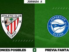 Alineaciones Posibles del Athletic - Alavés - Jornada 8