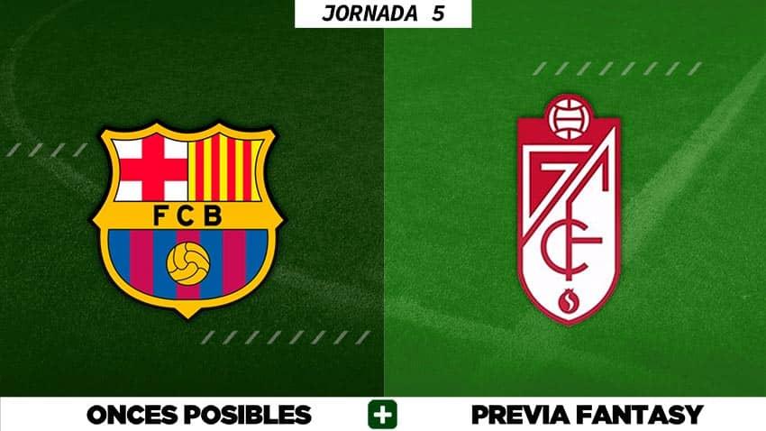 Alineaciones Posibles del Barça - Granada - Jornada 5