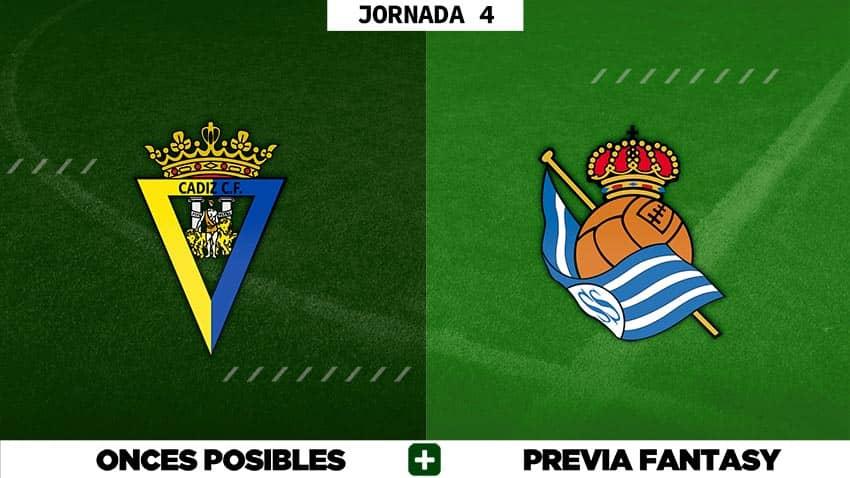 Alineaciones Posibles del Cádiz - Real Sociedad - Jornada 4