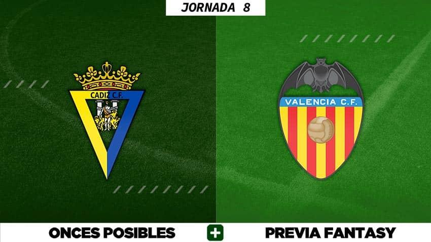 Alineaciones Posibles del Cádiz - Valencia - Jornada 8