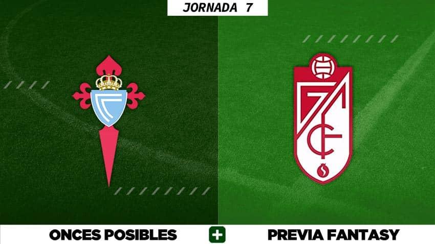 Alineaciones Posibles del Celta - Granada - Jornada 7
