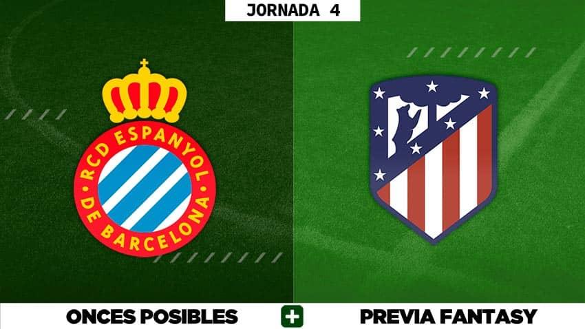 Alineaciones Posibles del Espanyol - Atlético - Jornada 4