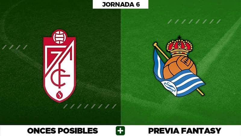 Alineaciones Posibles del Granada - Real Sociedad - Jornada 6