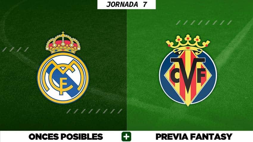 Alineaciones Posibles del Real Madrid - Villarreal - Jornada 7