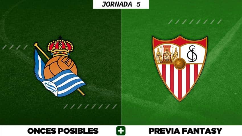 Alineaciones Posibles del Real Sociedad - Sevilla - Jornada 5