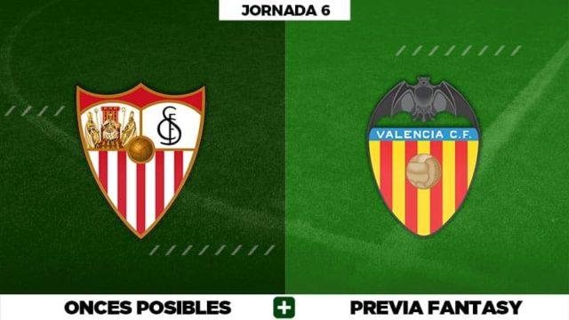 Alineaciones Posibles del Sevilla - Valencia - Jornada 6