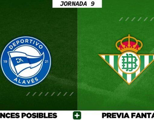 Alineaciones Posibles del Alavés - Betis - Jornada 9