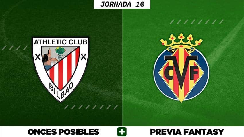 Alineaciones Posibles del Athletic - Villarreal - Jornada 10