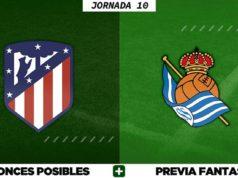 Alineaciones Posibles del Atlético - Real Sociedad - Jornada 10