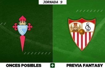 Alineaciones Posibles del Celta - Sevilla - Jornada 9
