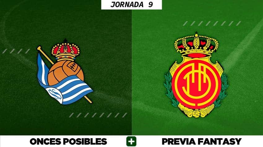 Alineaciones Posibles del Real Sociedad - Mallorca - Jornada 9