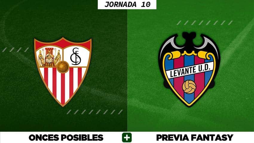 Alineaciones Posibles del Sevilla - Levante - Jornada 10