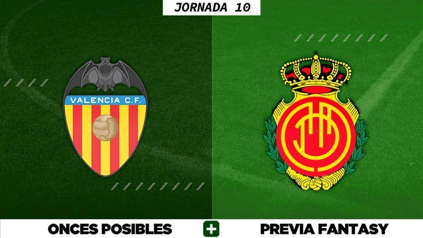 Alineaciones Posibles del Valencia - Mallorca - Jornada 10
