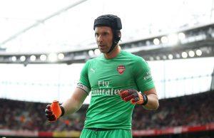 Petr Cech, en la primera jornada de Premier League con el Arsenal