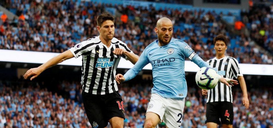 Fede Fernandez, durante un partido con el Newcastle