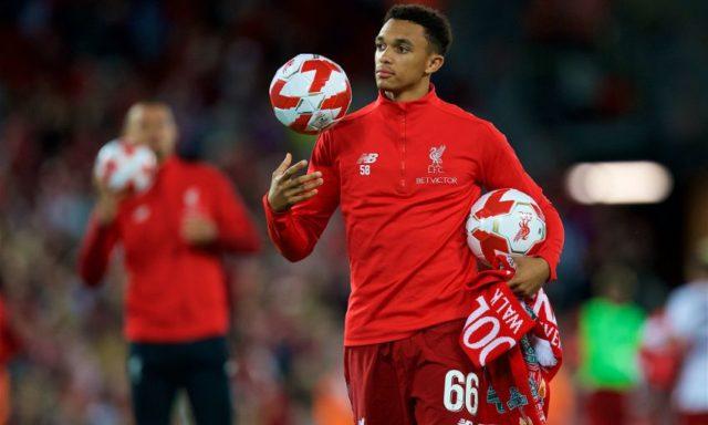 Klopp recupera a Trent Alexander-Arnold vuelve a los entrenamientos con el Liverpool.