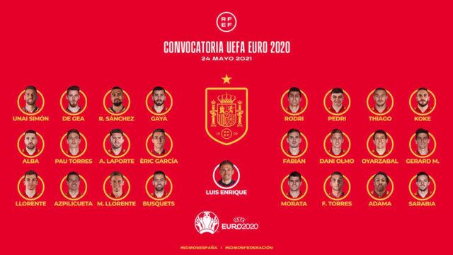 Lista de España, Selección Española