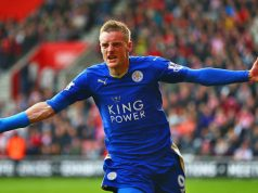 Jamie Vardy, en el Leicester City