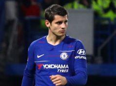 Álvaro Morata en la rampa de salida del Chelsea