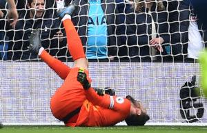 Hugo Lloris sufrió una lesión contra el Brighton