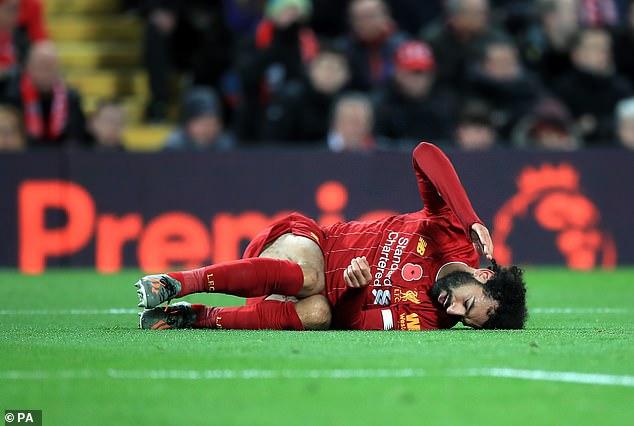Salah. lesionado tobillo con el Liverpool