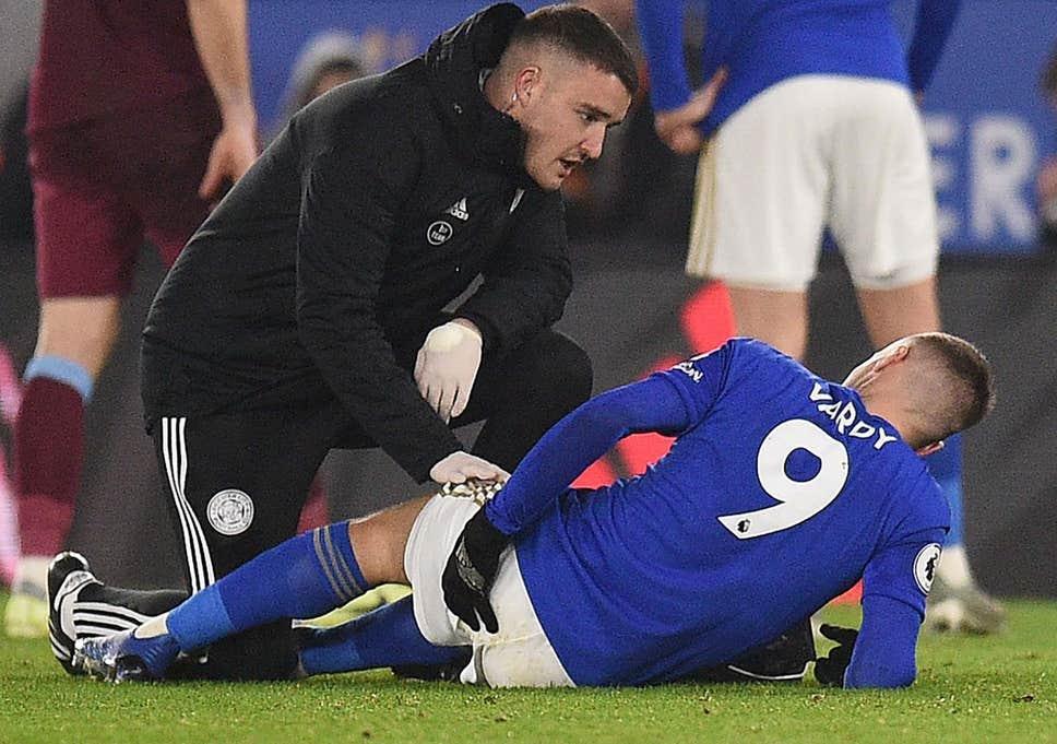 Jamie Vardy cayó lesionado en el último duelo del Leicester City