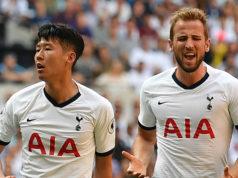 Kane y Son en un partido del Tottenham