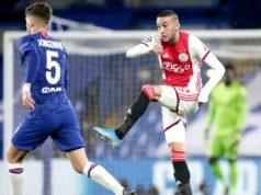 Hakim Ziyech, durante un Ajax vs Chelsea.