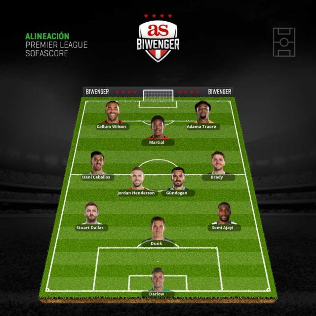 Once de apuestas Biwenger para la jornada 18 de la Premier League
